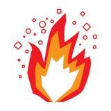 Απομονωμένο videogame εικονίδιο πυρκαγιάς διανυσματική απεικόνιση