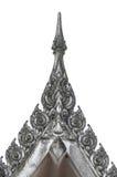 Απομονώστε την ταϊλανδική στέγη ναών Στοκ φωτογραφία με δικαίωμα ελεύθερης χρήσης