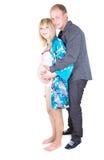 απομονώστε τη έγκυο γυν&alph στοκ φωτογραφία με δικαίωμα ελεύθερης χρήσης