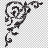 Απομονώστε τη διακόσμηση γωνιών στο μπαρόκ ύφος Στοκ Εικόνα