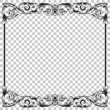 Απομονώστε τη διακόσμηση στο μπαρόκ ύφος Στοκ φωτογραφία με δικαίωμα ελεύθερης χρήσης