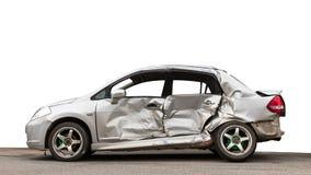 Απομονώστε το δευτερεύον αυτοκίνητο που συντρίβεται Στοκ εικόνα με δικαίωμα ελεύθερης χρήσης