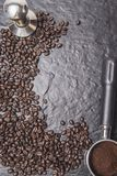 Απομονώστε το φασόλι καφέ για τις επιλογές menufor Στοκ Εικόνες