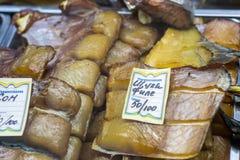 Αποξηραμένα παστά ψάρια σε ένα ρωσικό κατάστημα Στοκ φωτογραφία με δικαίωμα ελεύθερης χρήσης