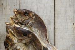 Αποξηραμένα ψάρια για το μαγείρεμα Στοκ Φωτογραφίες