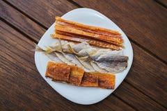 Αποξηραμένα ψάρια, κίτρινη φάλαινα, ψάρια βακαλάων Στοκ Εικόνες