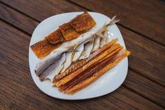 Αποξηραμένα ψάρια, κίτρινη φάλαινα, ψάρια βακαλάων Στοκ Φωτογραφίες