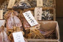 Αποξηραμένα ψάρια, προϊόν θαλασσινών στην αγορά από την Ιαπωνία Στοκ Εικόνα