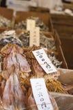 Αποξηραμένα ψάρια, προϊόν θαλασσινών στην αγορά από την Ιαπωνία Στοκ Εικόνες