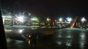 Αποπάγωση αεροπλάνων απόθεμα βίντεο