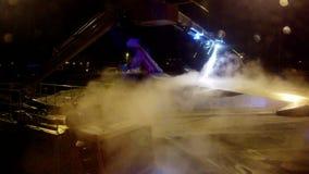 Αποπάγωση του νορβηγικού αεροπλάνου πριν από την απογείωση απόθεμα βίντεο