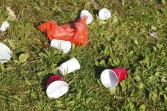 Απορρίματα, σκουπίδια μετά από το κόμμα Στοκ φωτογραφίες με δικαίωμα ελεύθερης χρήσης