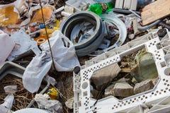 Απορρίματα στα υλικά οδόστρωσης Στοκ Εικόνα