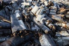 Απορρίματα στα υλικά οδόστρωσης Στοκ εικόνα με δικαίωμα ελεύθερης χρήσης
