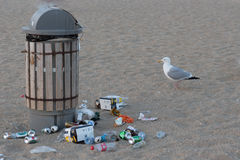 Απορρίματα στην παραλία Στοκ εικόνα με δικαίωμα ελεύθερης χρήσης