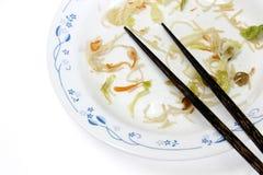 Απορρίματα τροφίμων στο πιάτο Στοκ εικόνα με δικαίωμα ελεύθερης χρήσης