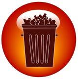 απορρίμματα εικονιδίων κουμπιών Στοκ Εικόνα