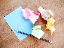 Απορρίμματα μολυβιών και σημειώσεων Στοκ Εικόνες