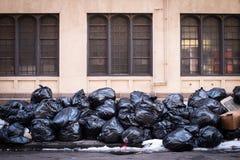απορρίμματα στο πεζοδρόμιο Στοκ Εικόνα