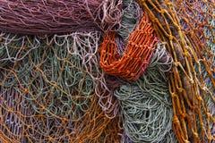 Απορριμμένη λεπτομέρεια διχτυών του ψαρέματος Στοκ εικόνα με δικαίωμα ελεύθερης χρήσης