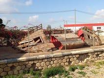 απορριμμένο σκάφος στοκ φωτογραφία