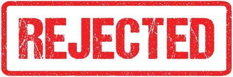 Απορριφθείσες κόκκινες τραχιές επιστολές σφραγίδων σφραγίδων που απομονώνονται στο λευκό Κόκκινη μίμησης επίδραση σφραγιδών Grung απεικόνιση αποθεμάτων