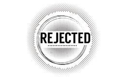 Απορριφθε'ν λογότυπο εικονιδίων Διανυσματική απεικόνιση