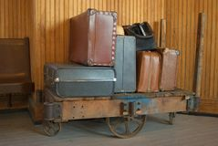 αποσκευές παλαιές Στοκ εικόνες με δικαίωμα ελεύθερης χρήσης