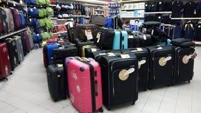 Αποσκευές ταξιδιού που πωλούνται στο κατάστημα στη Σιγκαπούρη Στοκ φωτογραφίες με δικαίωμα ελεύθερης χρήσης