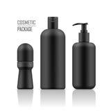 Αποσμητικό, σαμπουάν, μπουκάλι κρέμας σωμάτων διανυσματική απεικόνιση