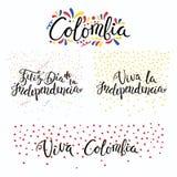 Αποσπάσματα ημέρας της ανεξαρτησίας της Κολομβίας διανυσματική απεικόνιση