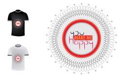Αποσπάσματα καλλιγραφίας με τη διακόσμηση για την μπλούζα, την αφίσα ή την κάρτα Στοκ φωτογραφία με δικαίωμα ελεύθερης χρήσης