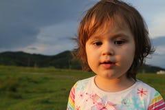 Αποσπασμένο κορίτσι μικρών παιδιών Στοκ Εικόνες