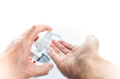 Αποστείρωση χεριών Στοκ εικόνες με δικαίωμα ελεύθερης χρήσης