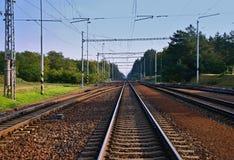 Αποστείλετε σιδηροδρομικά τη διαδρομή Στοκ εικόνες με δικαίωμα ελεύθερης χρήσης