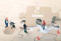 Αποστολή πλήρης και έννοια λύσης προβλήματος στοκ εικόνες