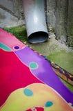 Αποστραγγιζόμενο υπόβαθρο υδρορροών και χρώματος Στοκ Εικόνες