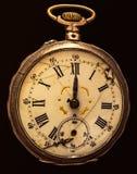 Αποσυντέθηκε ρολόι τσεπών που απομονώθηκε Στοκ φωτογραφίες με δικαίωμα ελεύθερης χρήσης