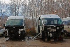 Αποσυντεθειμένα αυτοκίνητα Στοκ εικόνες με δικαίωμα ελεύθερης χρήσης