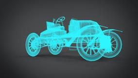 Αποσυντεθειμένα των ακτίνων X κλασικά αναδρομικά τρισδιάστατα δίνοντας αποτελέσματα αυτοκινήτων από την εφαρμογή μπλέντερ ελεύθερη απεικόνιση δικαιώματος
