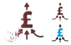 Αποσυντεθειμένο εικονοκυττάρου ημίτονο εικονίδιο Aggregator λιβρών οικονομικό Απεικόνιση αποθεμάτων