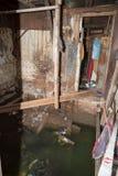 Αποσυντεθειμένο και πλημμυρισμένο σπίτι τρωγλών Στοκ φωτογραφία με δικαίωμα ελεύθερης χρήσης