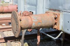 Αποσυντιθειμένος στάση προφυλακτήρων αυτοκινήτων σιδηροδρόμου Στοκ Εικόνες