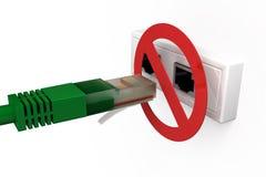 Αποσυνδέστε το καλώδιο δικτύων Στοκ εικόνα με δικαίωμα ελεύθερης χρήσης