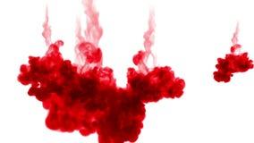 Αποσύνθεση χρώματος στο νερό και κίνηση σε σε αργή κίνηση Χρήση για το μελανωμένος υπόβαθρο ή σκηνικό με τα αποτελέσματα καπνού ή απόθεμα βίντεο