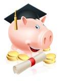 Αποταμίευση για τη piggy τράπεζα σταδιοδρομίας Στοκ Εικόνα