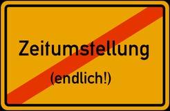 Αποταμίευση φωτός της ημέρας χρονικής μετατροπής της Ευρωπαϊκής Ένωσης Winterzeit Sommerzeit Zeitumstellung abgeschafft disestabl απεικόνιση αποθεμάτων
