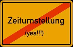 Αποταμίευση φωτός της ημέρας χρονικής μετατροπής της Ευρωπαϊκής Ένωσης Winterzeit Sommerzeit Zeitumstellung abgeschafft disestabl διανυσματική απεικόνιση