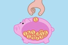 αποταμίευση χρημάτων Στοκ Εικόνα
