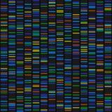 Αποτελέσματα ακολουθίας DNA χρώματος για το μαύρο άνευ ραφής υπόβαθρο διάνυσμα απεικόνιση αποθεμάτων